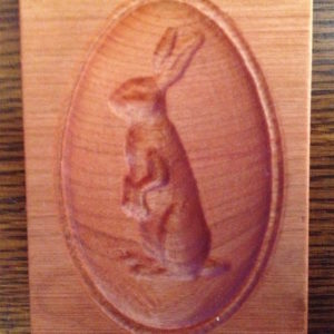 springerle cookie mold - bunny rabbit