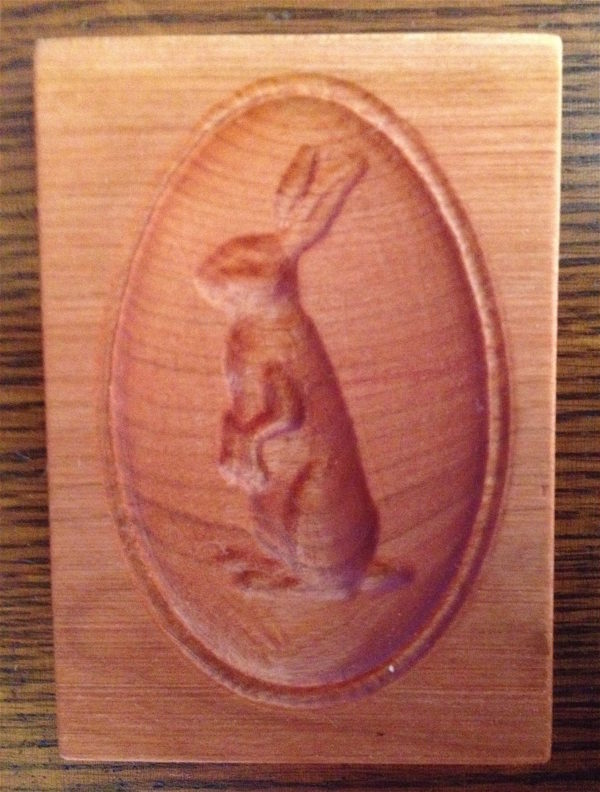 springerle cookie mold - bunny rabbit