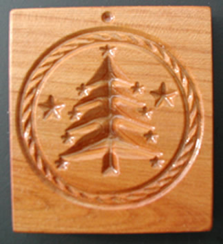 Springerle Cookie Mold - Christmas Tree