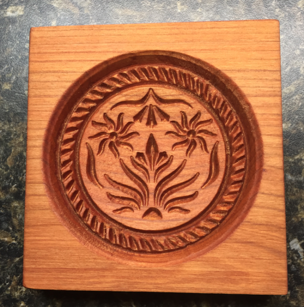 springerle cookie mold - double thistle