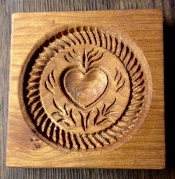 springerle cookie mold - heart