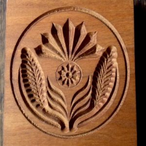 springerle cookie mold - single thistle large