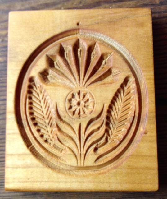 springerle cookie mold - single thistle small