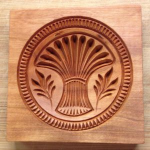 springerle cookie mold - sheaf of wheat