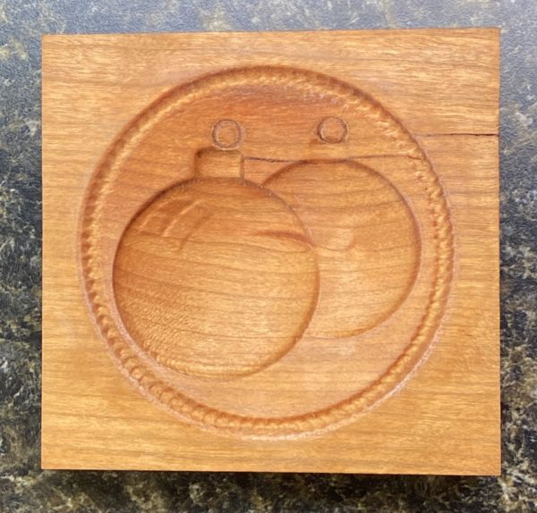 Springerle Cookie Mold - Christmas Ornaments