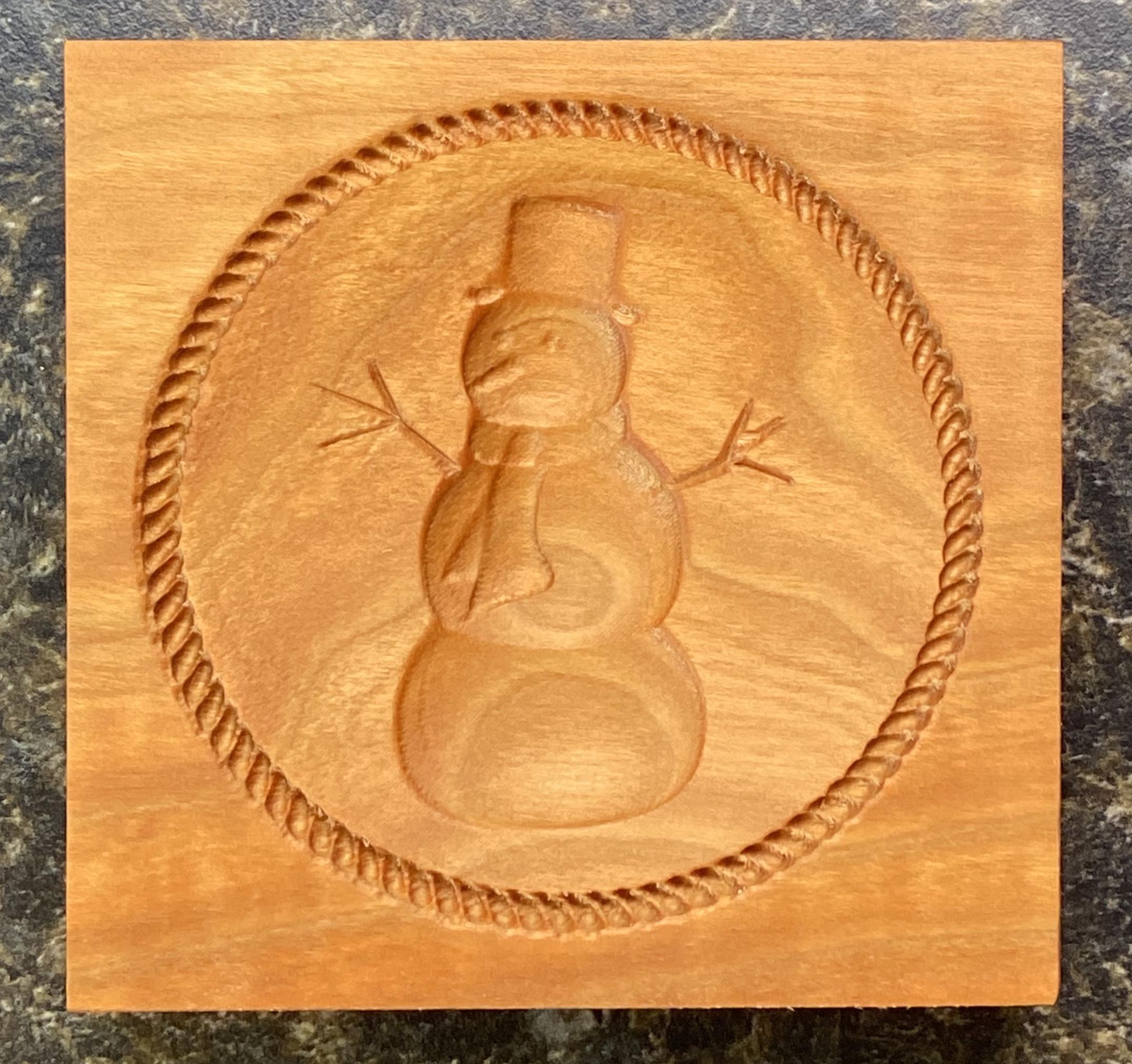 Springerle Cookie Mold - Snowman